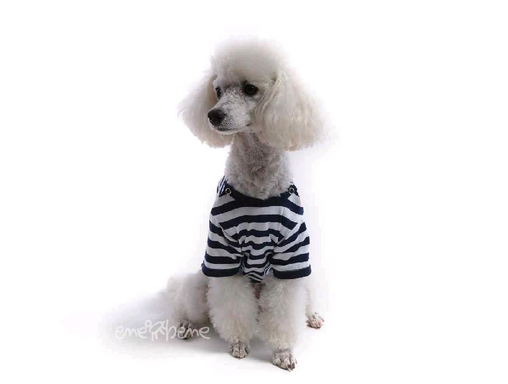 Ene Bene obleček - tričko pro psa modrobílé S