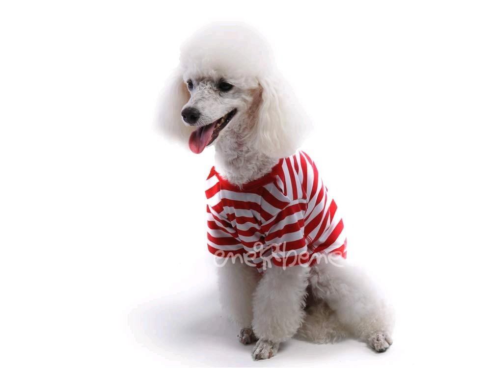 Ene Bene obleček - tričko pro psa červenobílé XS