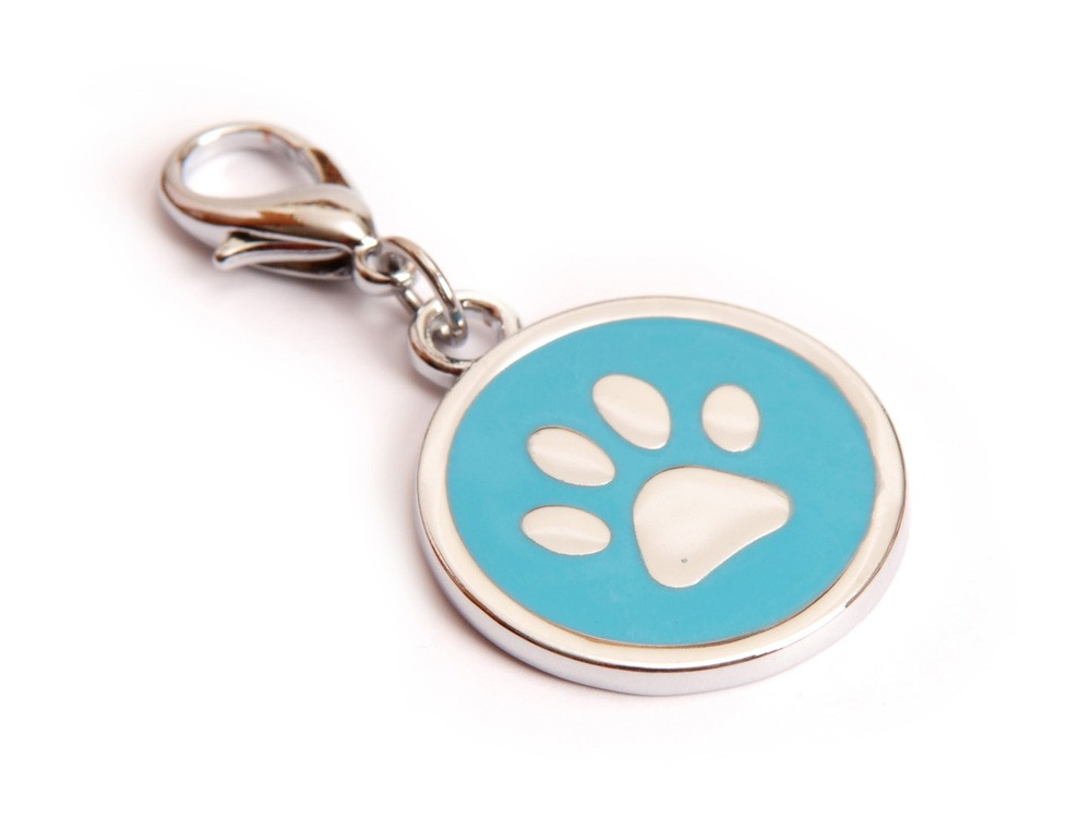 Ene Bene přívěsek pro psa tlapka modrá známka