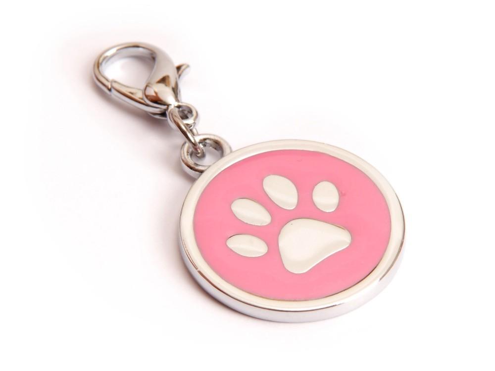 Ene Bene přívěsek pro psa tlapka růžová známka