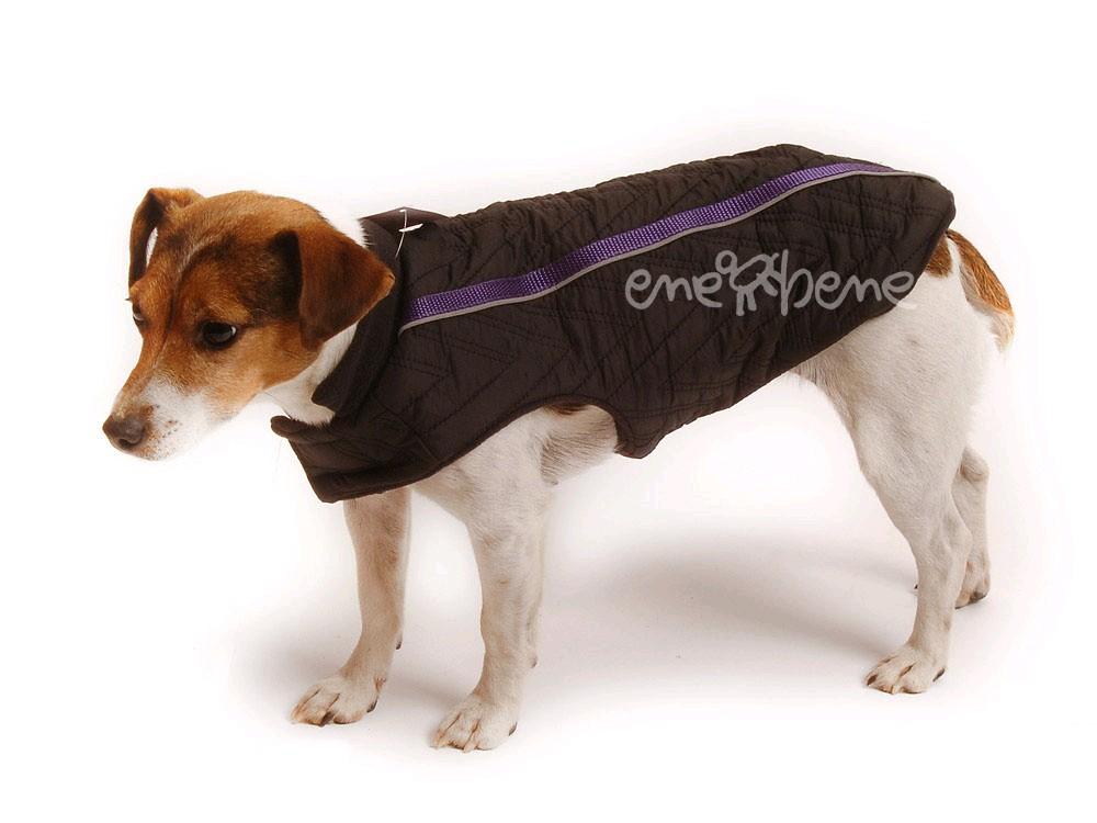 Ene Bene obleček vesta pro psa Bety černo fialová XS