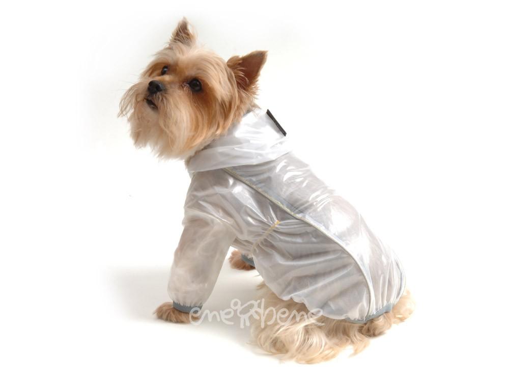 Ene Bene obleček - pláštěnka pro psa Tara s rukávky šedý lem S