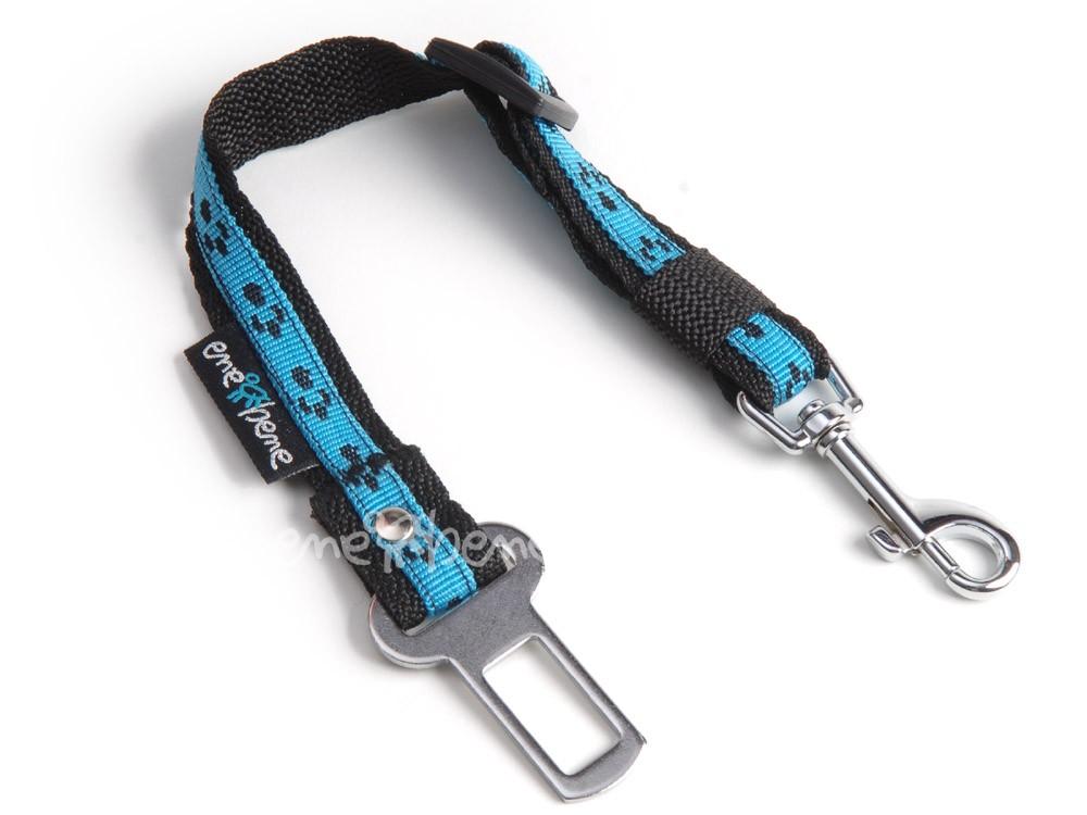 Ene Bene bezpečnostní pás do auta pro malé psy, tlapka modrá, š. 2 cm XS - S