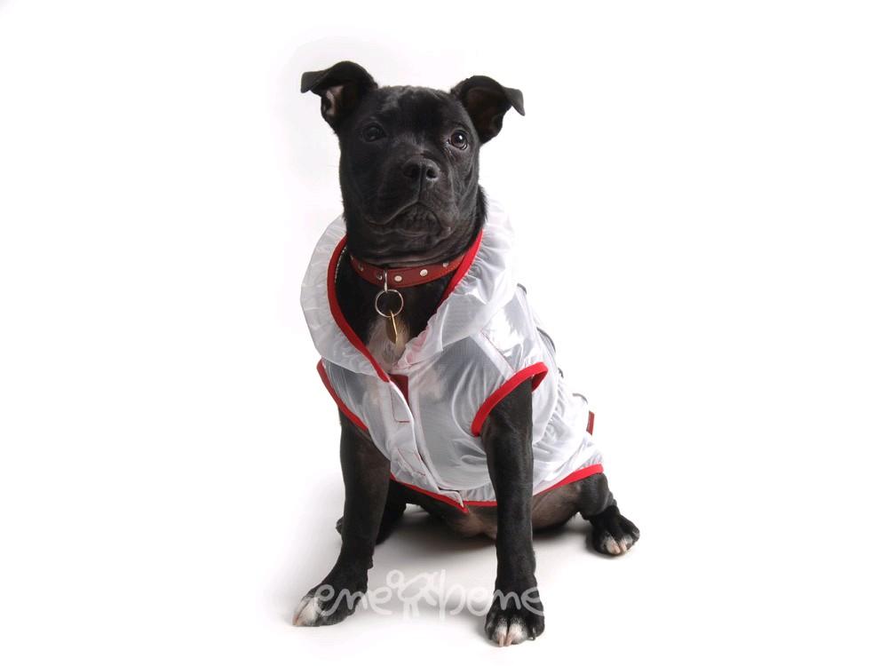 Ene Bene obleček - pláštěnka pro psa Tami červený lem M