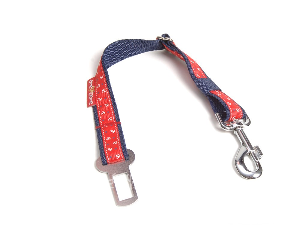 Ene Bene bezpečnostní pás do auta pro psa kotva červená, š. 2,5 cm M - L