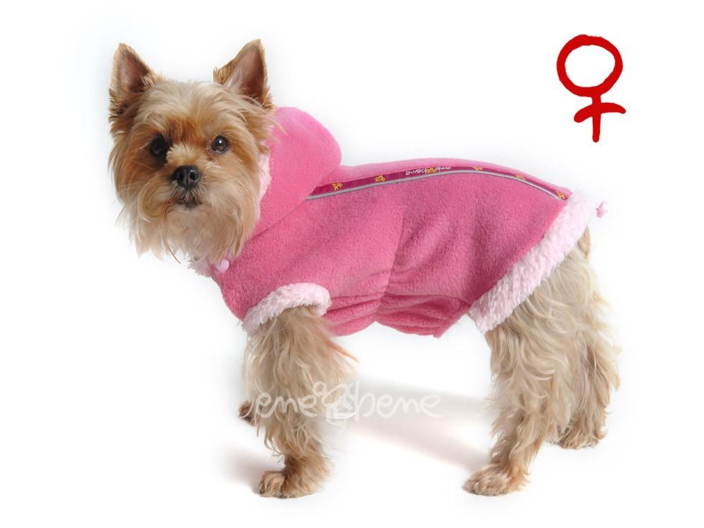 Ene Bene obleček - mikina pro psa Danny růžová s kapucí - fenka M