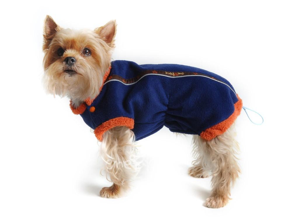 Ene Bene obleček - mikina pro psa Danny - modro - oranžová XS