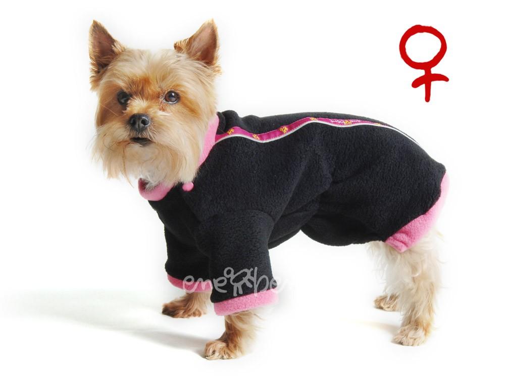 Ene Bene obleček - mikina pro psa Zonny černo růžová - fenka XS