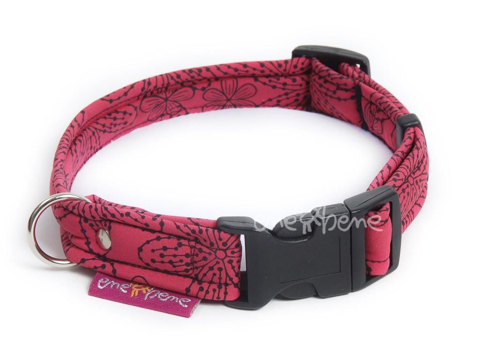 Ene Bene obojek pro psa růžový softshell S 2 cm