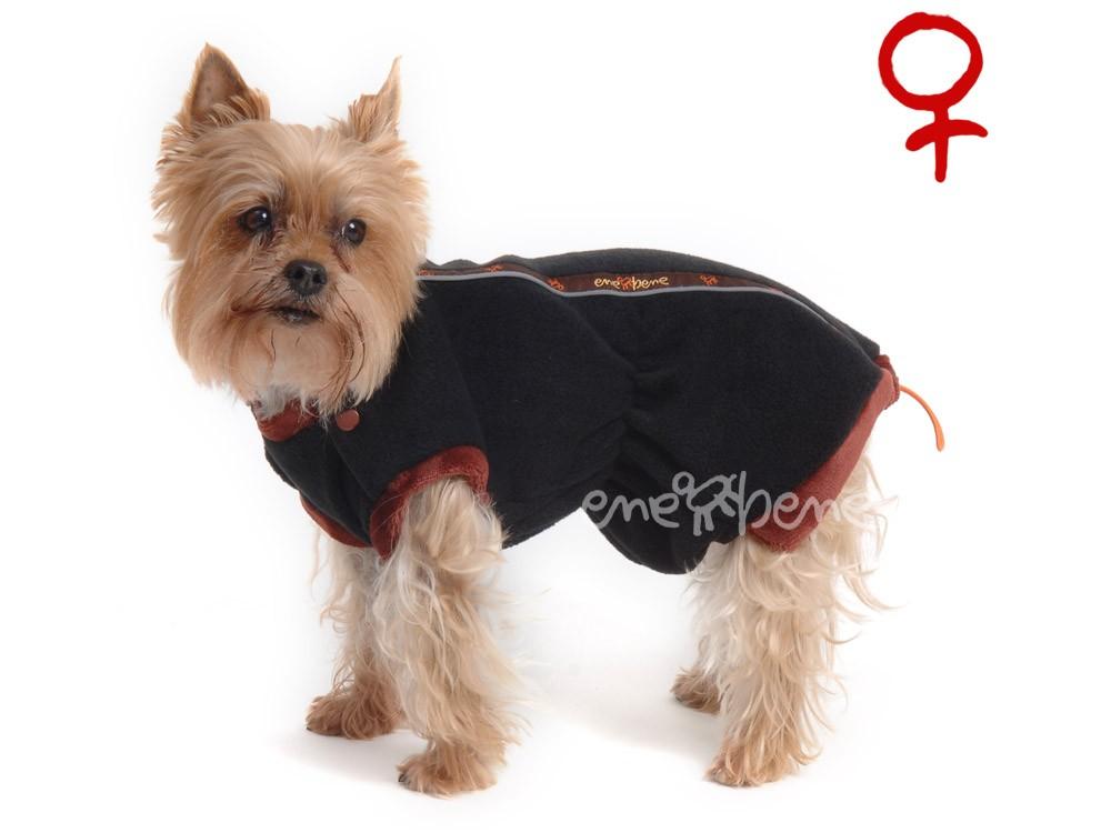 Ene Bene obleček - mikina pro psa Danny černo hnědá - fenka XS