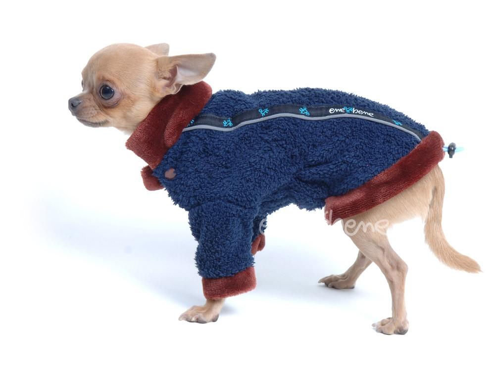 Ene Bene obleček - mikina pro psy Zonny modrohnědá XS