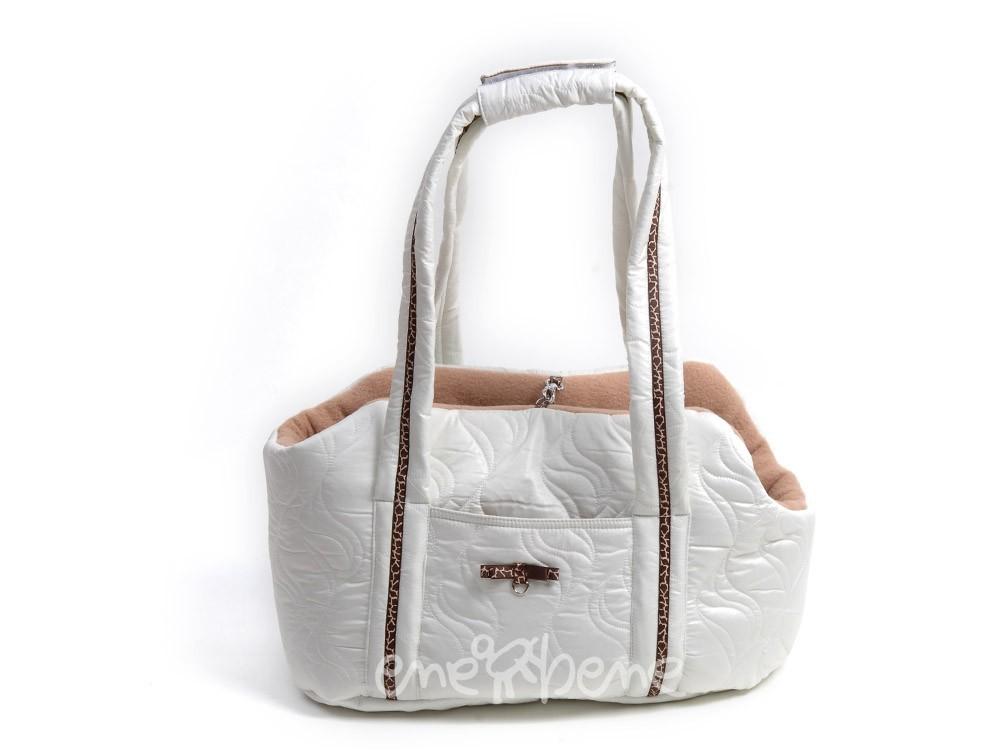 48032c5e1d Ene Bene taška pro psa bílo béžová S - Zazu