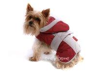 Obleček - bunda pro psa Kačenka béžovo vínová