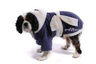 Obleček - župan pro psa fialovo - bílý