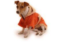 Obleček - župan pro psa oranžovo - hnědý