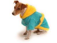 Obleček - župan pro psa tyrkysovo - tmavě žlutý