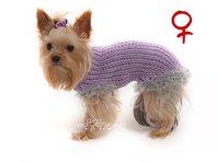 Obleček - svetr pro psa Sofi fialkový - fenka