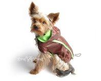 Obleček - pláštěnka pro psa Tedy hnědo zelená s COOLMAX podšívkou