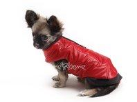 Obleček - vesta pro štěně Glori červeno černá