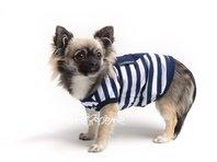 Obleček - tílko pro psa modrobílé