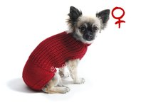 Obleček - svetr pro psa Míša tmavě červený - fenka
