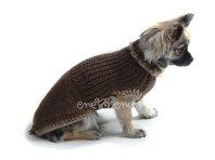 Obleček - svetr pro psa Miki hnědý