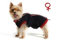 Obleček - mikina pro psa Danny černo červená - fenka