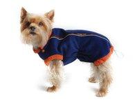 Obleček - mikina pro psa Danny - modro - oranžová