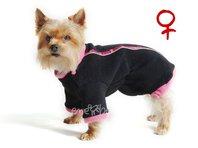 Obleček - mikina pro psa Zonny černo růžová - fenka