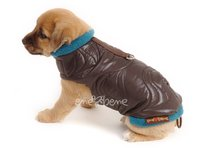 Obleček - vesta pro štěně Glori hnědo petrolejová