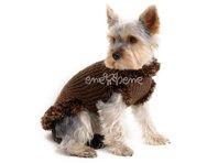 Obleček - svetr pro psa Sofi hnědý