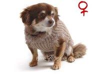 Obleček - svetr pro psa Sofi světle hnědý - fenka