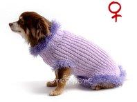 Obleček - svetr pro psa Sofi fialkový 2 - fenka