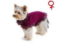 Obleček - svetr pro psa Sofi vínový 2 - fenka
