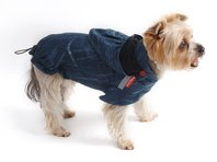 Obleček - pláštěnka pro psa Lea petrolejová s kapucí