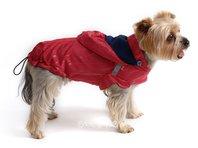 Obleček - pláštěnka pro psa Lea malinová s kapucí