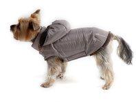 Bunda pro psa Šón béžovo šedá s kapucí