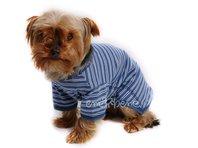 Obleček - tričko pro psa modré pruhy