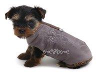 Obleček - vesta pro štěně Glori šedo hnědá